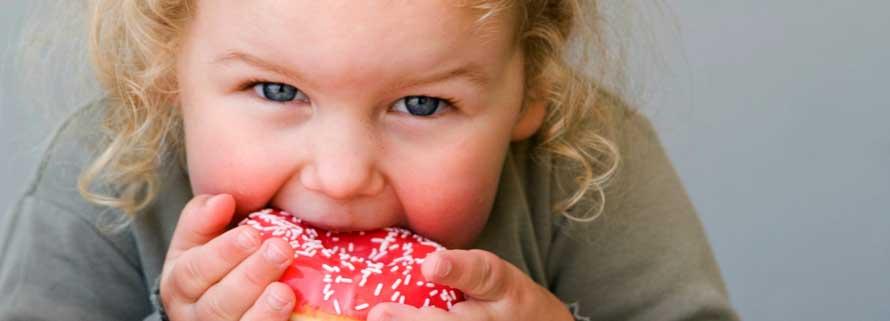 El azúcar en niños